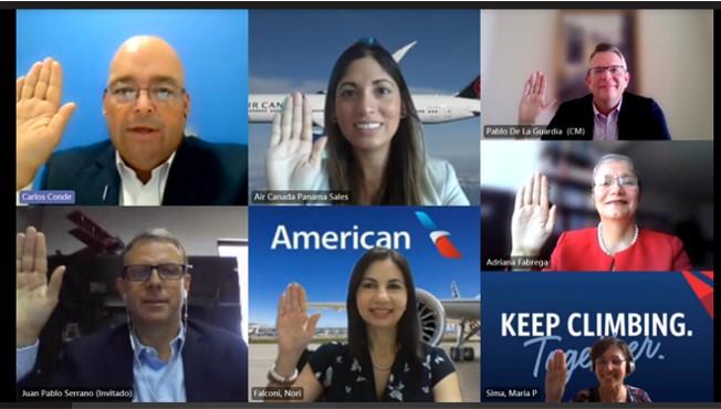 La Asociación De Líneas Aéreas De Panamá Celebra Toma De Posesión Virtual De Su Nueva Junta Directiva para 2021